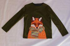 Boden 3 -4 Y Applique Fox in Sweater Shirt