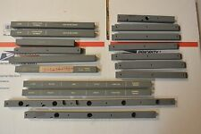 Lot 1960s Vintage IBM Military Mainframe Computer Console Panel Labels