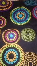 "12"" x 60"" black fabric with sunburst pattern"