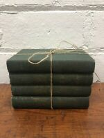 Green Poe FARMHOUSE DECOR Book Lot Wedding Bundle Decorative Mantel Vintage