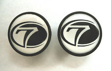 Seven Cycles handlebar bike caps, Seven Cycles Bike frame logo end plugs, Seven
