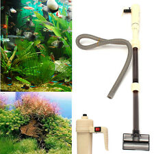 Aquarium Battery Syphon Auto Fish Tank Water Vacuum Gravel Filter Cleaner Pump