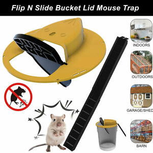 Mouse Trap N Flip Slide Bucket Lid Mouse Rat Trap With Ladder Mousetrap Catcher