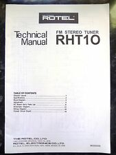 ROTEL TECHNICAL (service) MANUAL for RHT10  FM Stereo Tuner