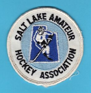 "Salt Lake City Amateur Hockey Association 3"" Patch Utah 1970s-1980s youth minor"
