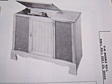 Vm 921-1, 930-1, 931-1, & 932-1 Phonograph Radio Photofact