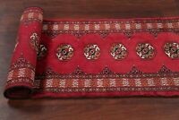 Top Quality Geometric 6 ft Red Runner Bokhara Pakistan Oriental Stair Rug 2'x6'