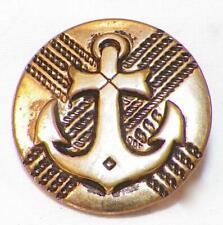 Vintage Brass Anchor Button Nautical Coat Jacket Dress Large  #63