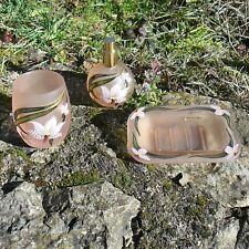 Set 3 Parts Bathroom Glass, Deco Hand