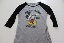 WOMENS Disney Mickey Mouse Original Mid Sleeve TEE T SHIRT Medium M P