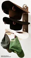 American Made Cowboy Hat Rack Lone Starwith Stars Powder Coated Rust
