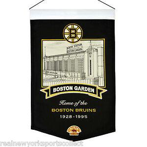 BOSTON GARDEN BANNER BOSTON BRUINS RAY BOURQUE PHIL ESPOSITO BOBBY ORR NEW