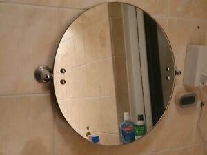 "18"" Large Chrome Wall Mounted Round Bathroom Swivel Mirror"