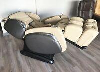 Cream Osaki OS-4000 CS Zero Anti Gravity Massage Chair Recliner Warranty + Heat