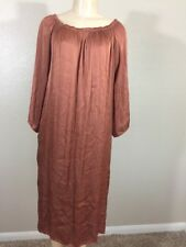 Stark Women's Brown Long Sleeve Cotton Two Pocket Off Shoulder Dress Size XS