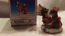"Fitz & Floyd Charming Tails Mouse ""On The First Day of Christmas"" #98/210"