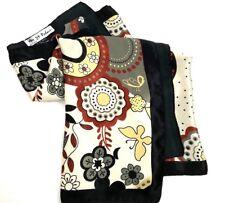Womens 29 PALMS Scarf Modern Floral Art Polyester Rectangular 22 x 66 Bordered