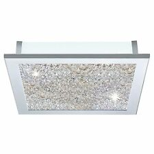 Eglo 92714 Auriga Crystal 5 Light Flush Stainless Steel/Polished Chrome