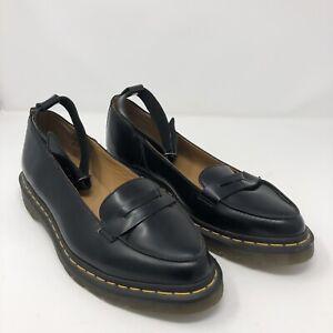 Women's Shoes Dr. Martens Leonie Black Leather Platform Size 11