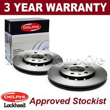 2x Front Delphi Brake Discs For Vauxhall Astra H Corsa Zafira Saab 9-5 BG3770C