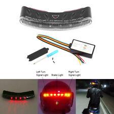 12V Black Wireless LED Motor Motorcycle ABS Helmet Turn Signal Stop Brake Light