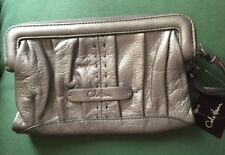 COLE HAAN Double Zip Continental Vintage Silver Wallet