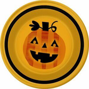 """Happy Fright Night Haunted House Carnival Halloween Party 7"""" Dessert Plates"""