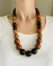 Brown Necklace Wood Ethnic