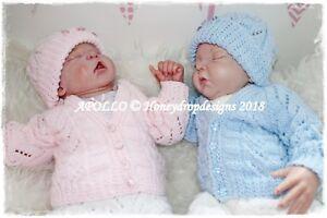 A5 PAPER KNITTING PATTERN * APOLLO * Reborn/Baby Newborn-3 Months