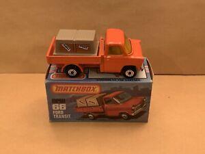 Matchbox Superfast No. 66 Ford Transit Rare Amber Windows With Box