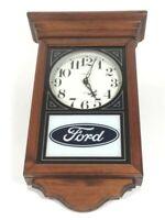 Ford Motor Company Racing Mustang Truck Regulator Style Wood Wall Clock