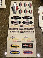 Briggs 5HP Flathead Raptor Animal racing stickers Gokart Gocart 5 HP