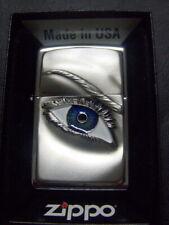 Zippo Sturmfeuerzeug Das Blaue Auge 3D Emblem