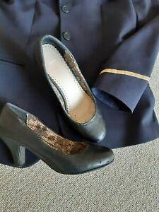 Stewardess Uniformschuhe Pumps Boarding schwarz Grösse 38 gebraucht, eingetragen