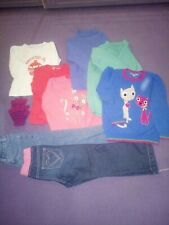 Girls Clothes Clothing Bundle Age 4-5 Years 9 Items Winter Jeans Jumper Top