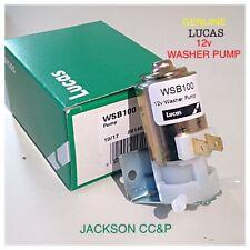 LUCAS WSB100/GWW125/STC575 CLASSIC 12v WASHER PUMP MINI,LAND ROVER,TRIUMPH,MINOR