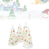4pcs Crystal Christmas Tree Colorful Christmas Tree Painted LED Christmas Trees