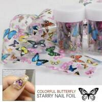 3D Butterfly Nail Foils Flower Transfer Foil Decal Nail Art Decoration Tips UK