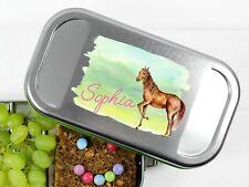Butterbrotdose Pferd und Namen personalisiert BPA-frei