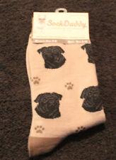 Pug Black Dog Breed Lightweight Stretch Cotton Adult Socks