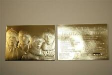 BEATLES FOR SALE Album Cover Sculpted 23KT Gold Card NM-MT Serial Numbered BOGO