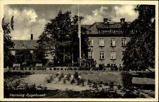 Herning Dänemark Postkarte 1959 gelaufen Sygehuset Partie am Krankenhaus