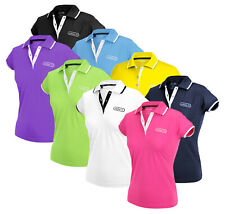 Adidas Womens FP Performance Patch Golf Polo Shirt Top I, Many Colors