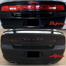 2011-2014 Dodge Charger Tail Light Blackout Kit Smoked Vinyl Cover Overlay 3 Pcs