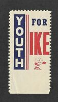 Youth for Ike - Eisenhower Presidential Promotional Stamp