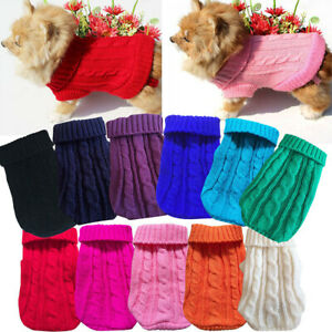 Dog Clothes Puppy Cat Sweater Warm Jacket Coat For Small Dogs Chihuahua Pet Vest
