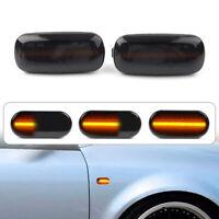 Dynamic LED Side Marker Fender Turn Signal Light for Audi A3 A4 B7 A6 C5 C6 Blac