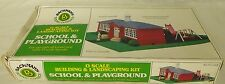 Bachmann Plasticville Vintage School & Playground Kit-Ex. But Not Complete!