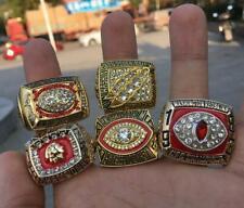 5pcs Washington Redskins American Football Team Ring Souvenir Fan Men Gift