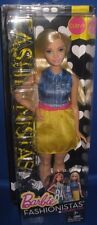 BARBIE COLLECTOR  FASHIONISTAS CURVY BARBIE DOLL #22 CHAMBRAY CHIC, NEW